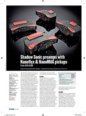 Guitarist Shadow Sonic SonicBasic