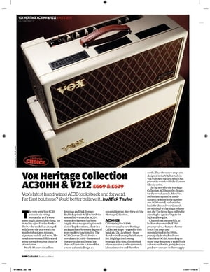 Guitarist Vox V212