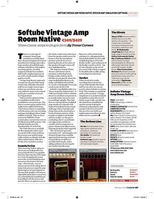 Guitarist Softube Vintage Amp Room Native