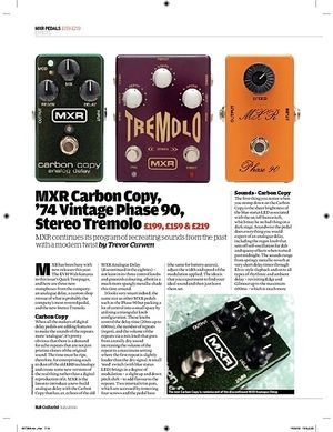 Guitarist MXR CSP 026 74 Vintage Phase 90