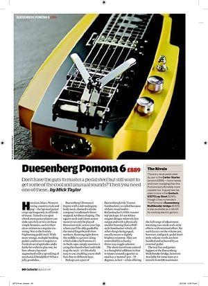 Guitarist Duesenberg Pomona 6