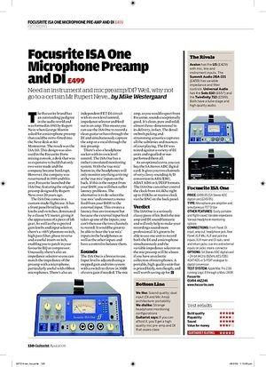 Guitarist Focusrite ISA One Microphone Preamp and DI