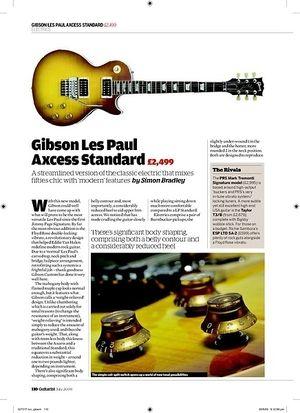 Guitarist Gibson Les Paul Axcess Standard