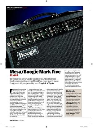 Guitarist Mesa/Boogie Mark Five
