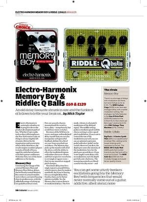 Guitarist ElectroHarmonix Memory Boy