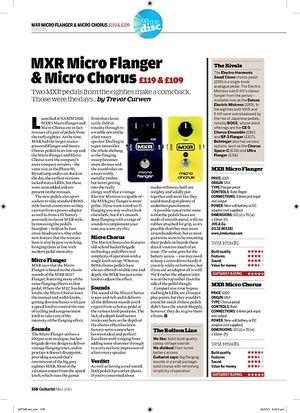 Guitarist MXR Micro Flanger