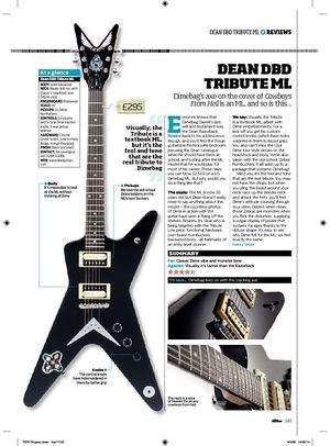Total Guitar Dean DBD Tribute ML