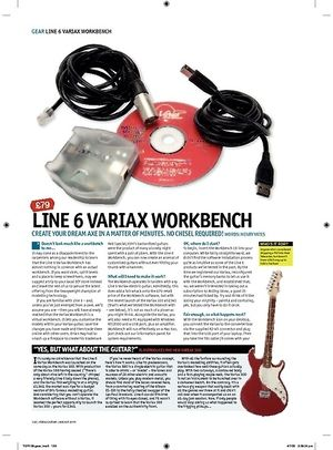 Total Guitar LINE 6 VARIAX WORKBENCH