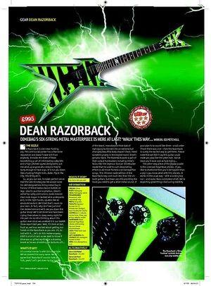 Total Guitar Dean Razorback