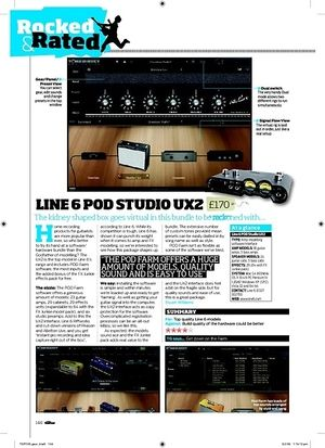 Total Guitar LINE 6 POD STUDIO UX2