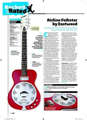 Total Guitar Airline Folkstar by Eastwood