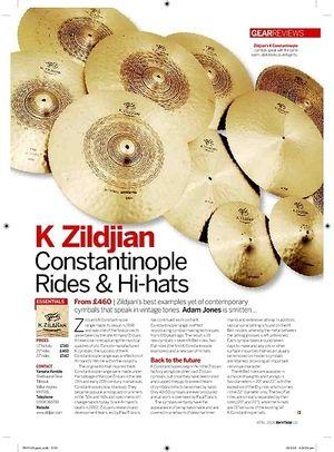Rhythm K Zildjian Constantinople Rides and Hihats