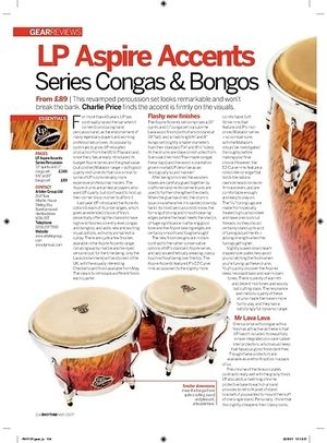 Rhythm LP Aspire Accents Series Congas and Bongos