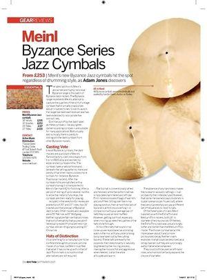 Rhythm Meinl Byzance Series Jazz Cymbals