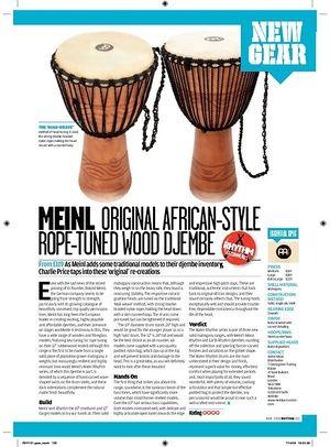 Rhythm MEINL ORIGINAL AFRICANSTYLE ROPETUNED WOOD DJEMBE
