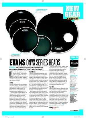 Rhythm EVANS ONYX SERIES HEADS
