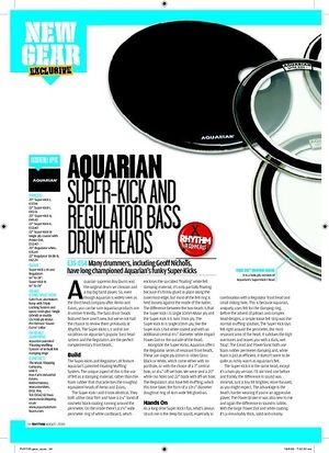 Rhythm Aquarian SUPERKICK AND REGULATOR BASS  DRUM HEADS