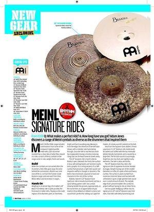 Rhythm MEINL SIGNATURE RIDES