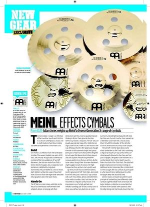 Rhythm MEINL EFFECTSCYMBALS
