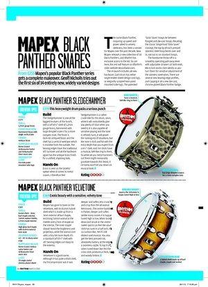 Rhythm MAPEX BLACK PANTHER VELVETONE