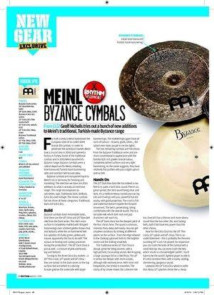 Rhythm MEINL BYZANCE CYMBALS