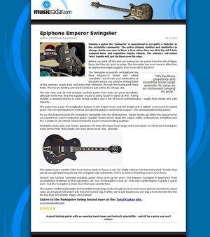 MusicRadar.com Epiphone Emperor Swingster