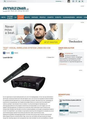Amazona.de Test: Vocal-Wireless-System LINE6 XD-V30