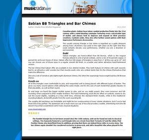 MusicRadar.com Sabian B8 Triangles and Bar Chimes