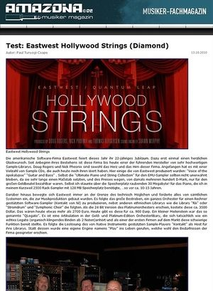 Amazona.de Test: Eastwest, Hollywood Strings (Diamond)