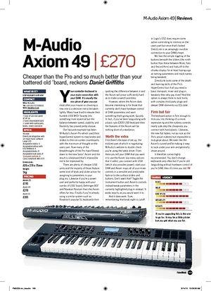 Future Music M-Audio Axiom 49
