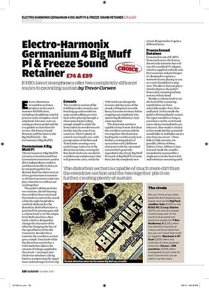 Guitarist Electro-Harmonix Germanium 4 Big Muff Pi