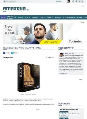 Amazona.de Test: Best Service Galaxy II Piano