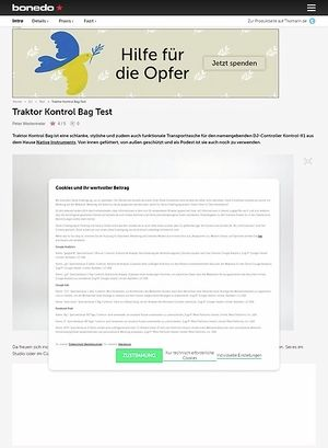 Bonedo.de Traktor Kontrol Bag