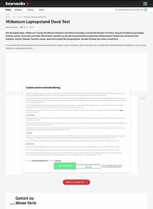 Bonedo.de Millenium Laptopstand Dock