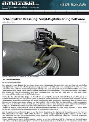 Amazona.de Special: Hochwertige Vinyldigitalisierung Teil 2