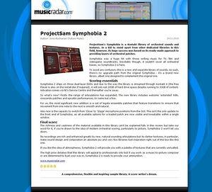 MusicRadar.com ProjectSam Symphobia 2