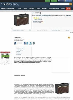 Audiofanzine.com Vox AC15 VR