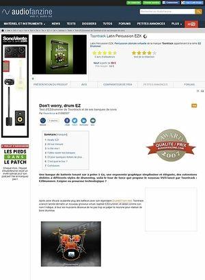 Audiofanzine.com Toontrack Latin Percussion EZ Expansion