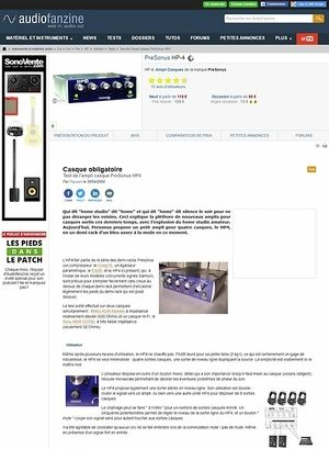 Audiofanzine.com PreSonus HP-4