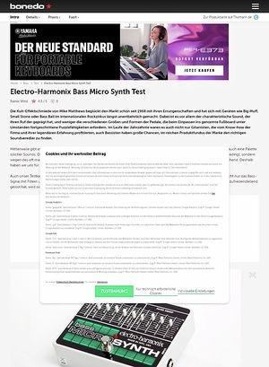 Bonedo.de Electro Harmonix Bass Micro Synth