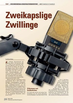 Professional Audio Zweikapslige Zwillinge AKG C 414 XL S / C 414 XL II