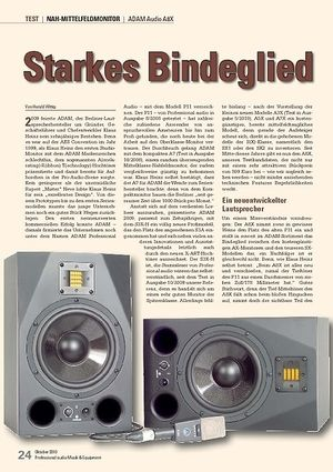 Professional Audio Starkes Bindeglied ADAM Audio A8X
