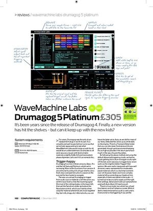 Computer Music WaveMachine Labs Drumagog 5 Platinum