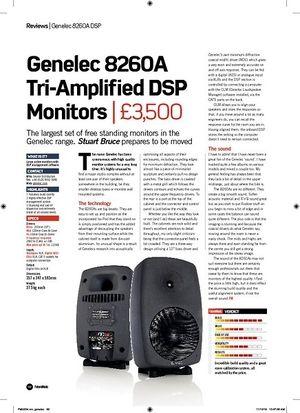 Future Music Genelec 8260A Tri-Amplifi ed DSP  Monitors