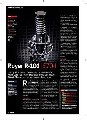 Future Music Royer R-101