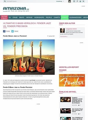 Amazona.de Workshop: Guitar know-how: Fender Bässe - Jazz vs. Precision