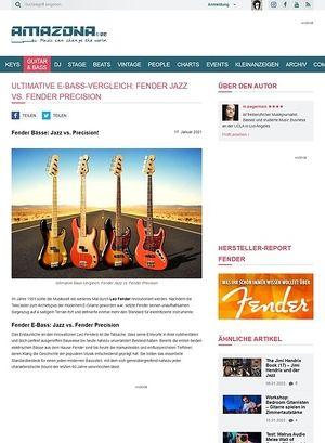 Amazona.de Workshop: Guitar know-how: Fender Bässe - Jazz vs. Precision