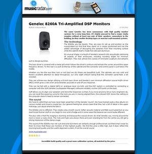 MusicRadar.com Genelec 8260A Tri-Amplified DSP Monitors
