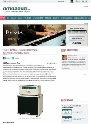 Amazona.de Test: Ibanez, TSA15H&TSA112C, Gitarrenverstärker