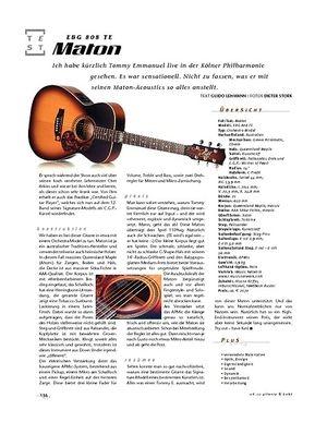 Gitarre & Bass Maton EBG 808 TE, A-Gitarre